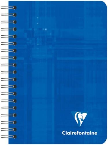 Notitieboek Clairfontaine spiraal 95x140mm lijn assorti