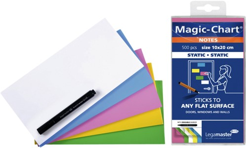Magic-chart notes Legamaster 10x20 cm assorti