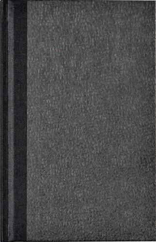 Notitieboek Octavo met alfabet 103x165mm 192blz gelinieerd grijs gewolkt