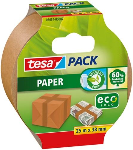 Verpakkingstape Tesa 05054 eco papier 38mmx25m bruin