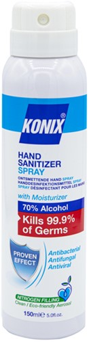 Handspray Konix aerosol desinfectie 150ml 70% alhohol