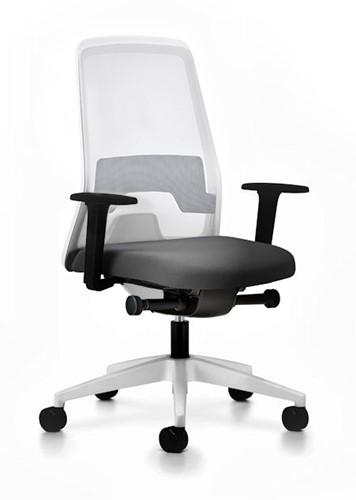 Every bureaustoel- EV211 - rug netbespanning - synchroontechniek - kunststof delen wit - 4D armleggers