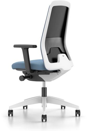 Every bureaustoel Flextech - EV211 - rug netbespanning - kunststof delen wit - armleggers