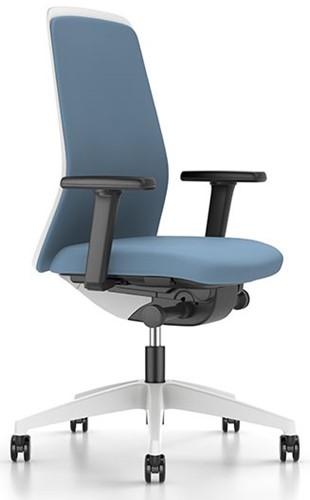 Every Chillback bureaustoel EV311E - wit kunststof - synchroontechniek - lendesteun - 4D armleggers - stoffering zwart