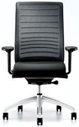 Hero bureaustoel 172H - 3D netespanning - stoffering zwart - 4D armleggers