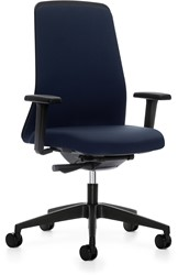 Every Chillback bureaustoel 146E - zwart kunststof - synchroon - lende - 4D armleggers - stoffering zwart