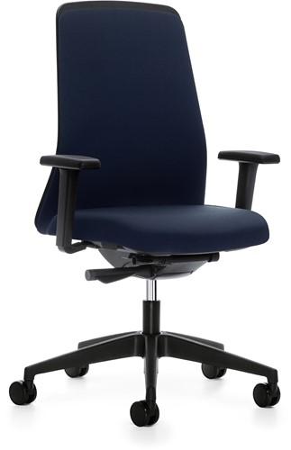 Every plus bureaustoel EV117- zwart kunststof - synchroontechniek  - 4D armleggers - lendensteun, zitdiepte instelling stoffering Era
