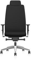 Aim1S32  bureaustoel met hoofdsteun, rund Nappa lederen bekleding