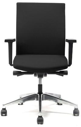 Verstelbare Bureaustoel Zwart.Seven Bureaustoel Zitdiepteverstelling Synchroontechniek Stof Lucia