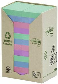 Memoblok 3M Post-it 653 38x51mm recycled rainbow pastel