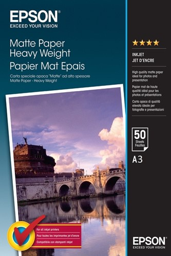 Inkjetpapier Epson S041261 A3 mat 1440DPI 50vel