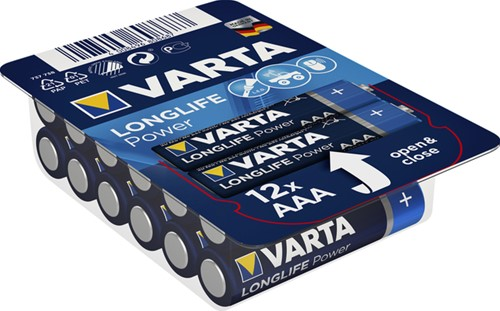 Batterij Varta Longlife Power big box 12xAAA