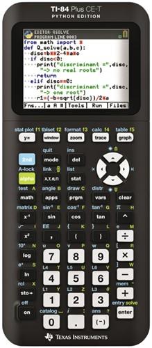 Rekenmachine TI-84 Plus CE-T teacher pack Python Edition