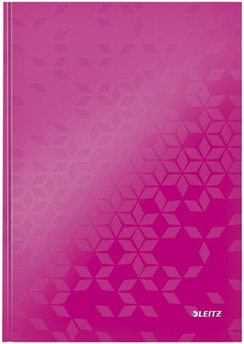 Notitieboek Leitz WOW A4 lijn roze