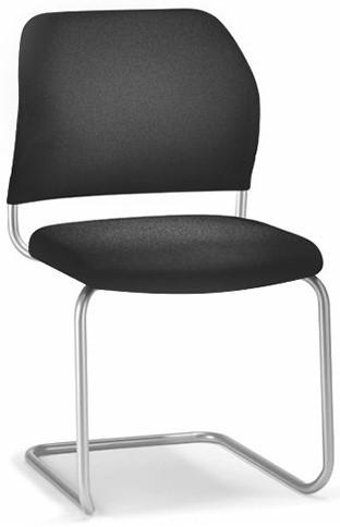 Interstuhl Geos bezoekersstoel - swingframe met Citadel stoffering met armleggers