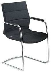 Champ bezoekersstoel 5C75 met swingframe lederen uitvoering