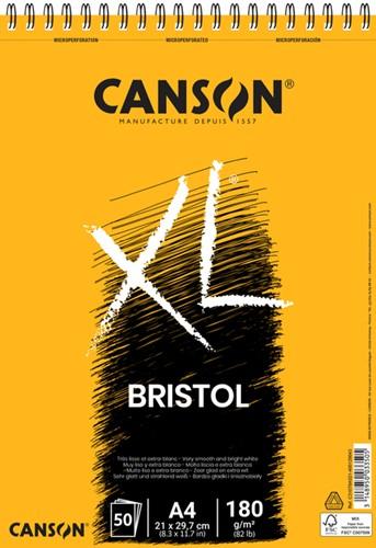 Tekenblok Canson XL Bristol A4 50v 180gr