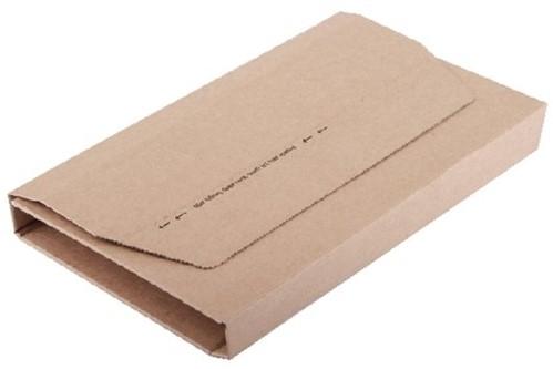Wikkelverpakking Budget ringband +zelfklevende strip A4+ bruin