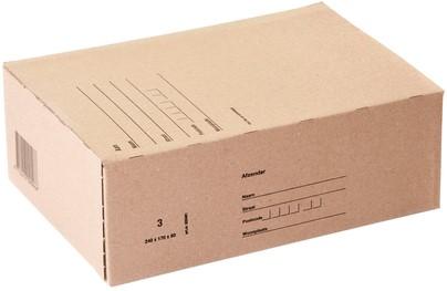 Postpakketbox Budget 3 240x170x80mm bruin