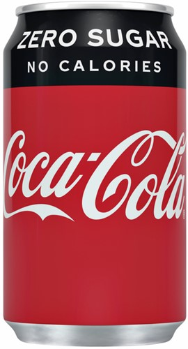 Frisdrank Coca Cola Zero blikje 0.33l