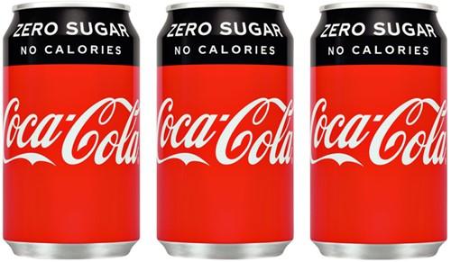 Frisdrank Coca Cola Zero blikje 0.33l-2