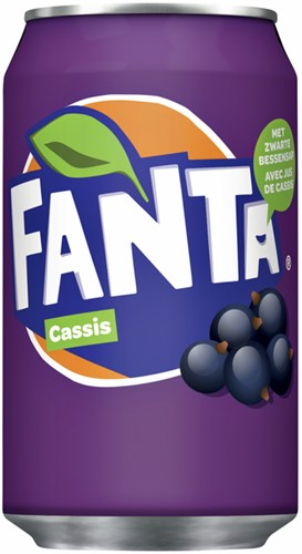 Frisdrank Fanta Cassis blikje 0.33l