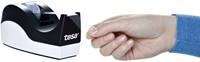Plakbandhouder Tesa Orca zwart/wit met 8rol tape 19mmx33m-2