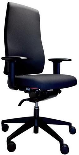 Goal smart bureaustoel - stoffering Lucia zwart - 4d armleuningen - hoge gasvering - zitdiepteinstelling - lendensteun - synchroontechniek