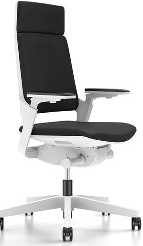 Movy 23M6 Bureaustoel - rugleuning hoog - NPR armleggers - Era stoffering - synchroontechniek