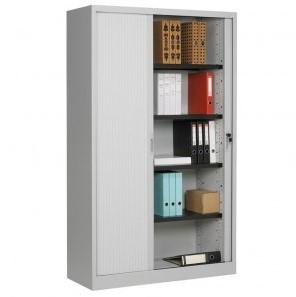 Roldeurkast 198x120x43cm  incl. 4 legborden - kunststof deuren