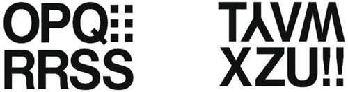 Etiket Herma 4188 33mm letters O-Z zwart 16stuks