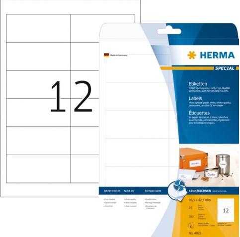 Etiket Herma 4823 96.5x42.3mm wit 300stuks