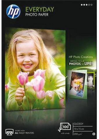 Inkjetpapier HP CR757A 10x15cm photo glossy 200gr 100vel