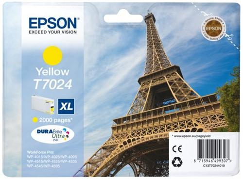 Inktcartridge Epson T7024 geel HC