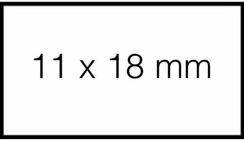 Prijsetiket 18x10mm Sato PB1 permanent wit