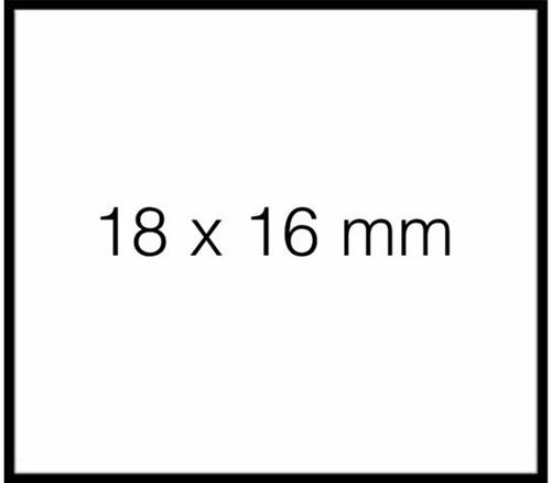 Prijsetiket 18x16mm Sato Duo 16 afneembaar wit