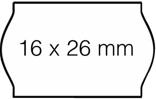 Prijsetiket 16x26mm Open-Data S14/Sato Judo afneembaar wit