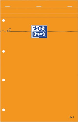 Schrijfblok Oxford Everyday A4+ ruit 5mm 80vel wit