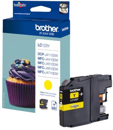 Inktcartridge Brother LC-123Y geel