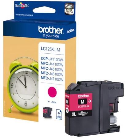 Inktcartridge Brother LC-125XLM rood HC