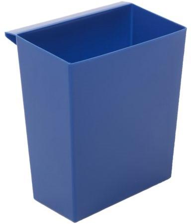 Inzetbak voor vierkante tapse papierbak blauw