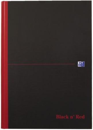 Notitieboek Oxford Black n' Red A4 96vel ruit 5mm zwart