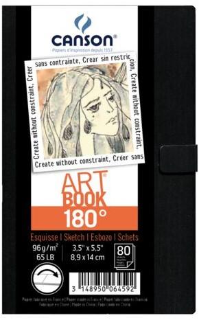 Tekenboek Canson Art 84x140mm 180graden 96gram 80vel