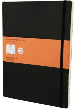 Notitieboek Moleskine XL 190x250mm lijn zwart
