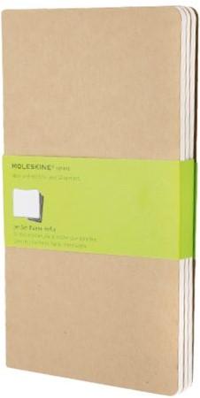 Schrift Moleskine 130x210mm 160blz blanco large  kraft