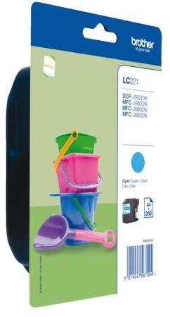 Inktcartridge Brother LC-221 blauw