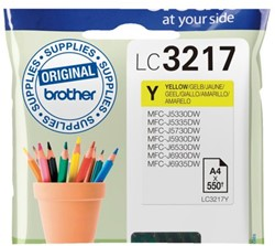 Inkcartridge Brother LC-3217Y geel