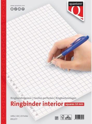 Interieur Quantore A4 23-rings ruit 10mm 100vel