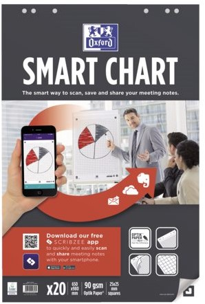 Flipoverpapier Oxford smart 65x98cm. ruit 90gram 20vel-2