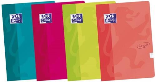 Schrift Oxford school touch A4 72blz ruit 10mm assorti